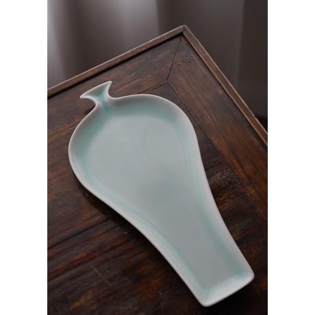 青白磁お皿 花瓶 PS013