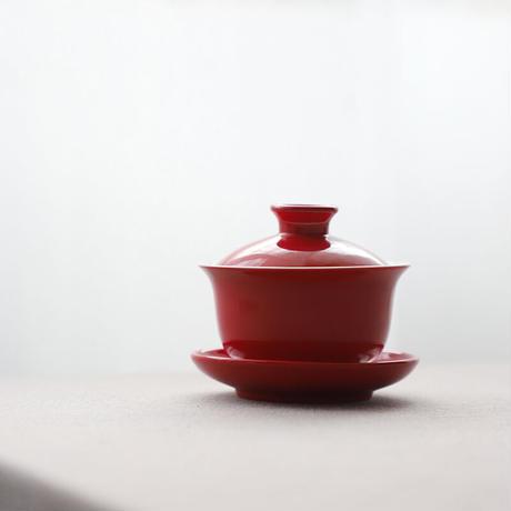 赤い蓋碗 PS016