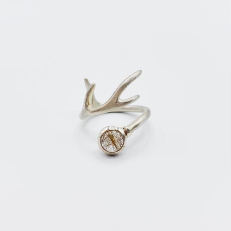 Deer ring L rutile quartz