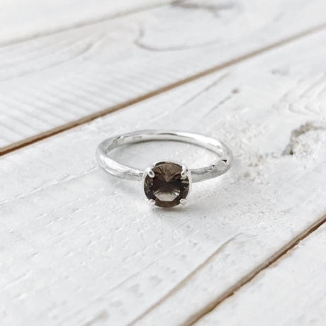 Branch ring 03 smoky quartz