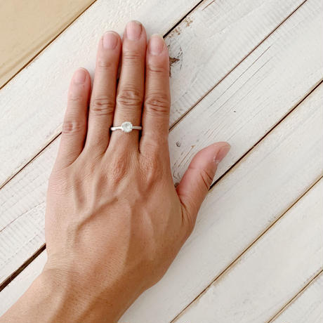 Branch ring 03 green quartz
