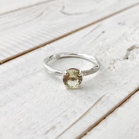 Branch ring 03 lemon quartz