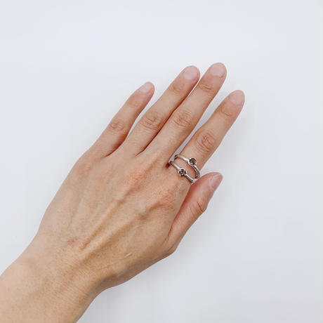 Branch ring 25 Smoky quartz