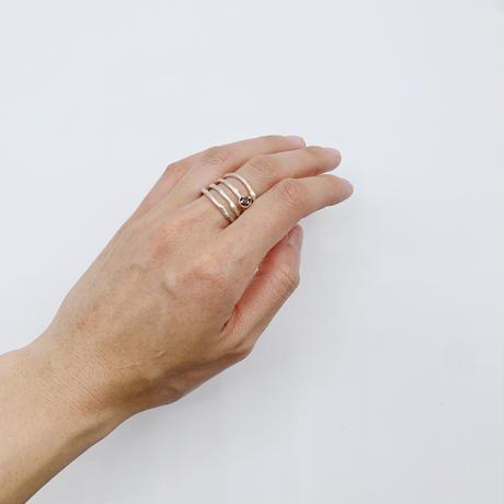 Branch ring 24 Smoky quartz