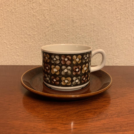 Gefle Mantilj コーヒーカップ&ソーサー  B級品(ヒビあり)