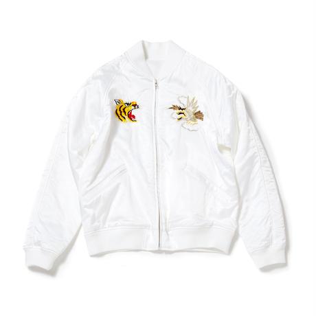 Satin Souvenir Jacket/White