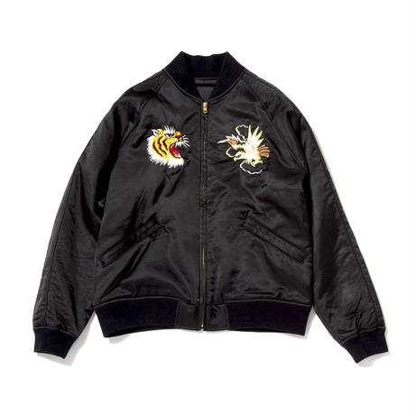Satin Souvenir Jacket/Black