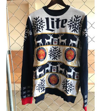 miller Lite adovertising knit