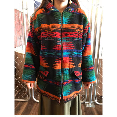 90s~woolrich native jacket usa made