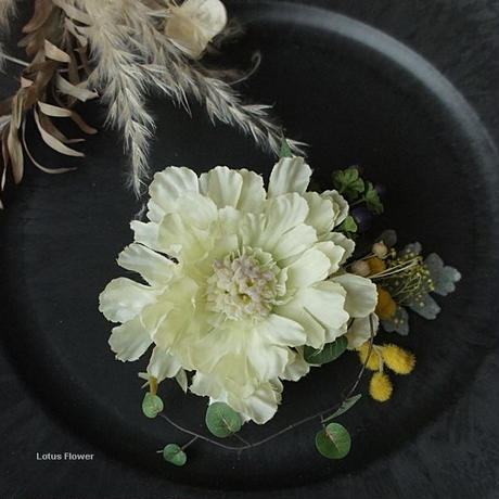 sweet scabious  corsage