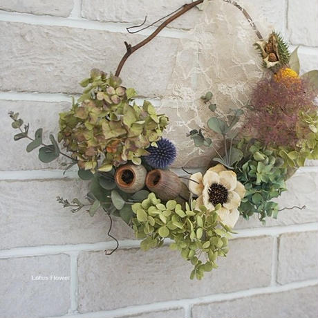 wreath of summer flowers