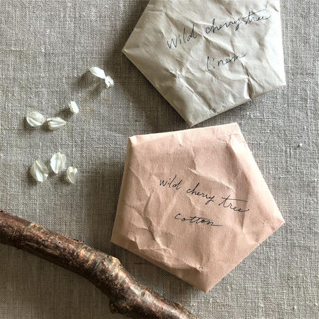 植物染めのコースター【山桜/綿】