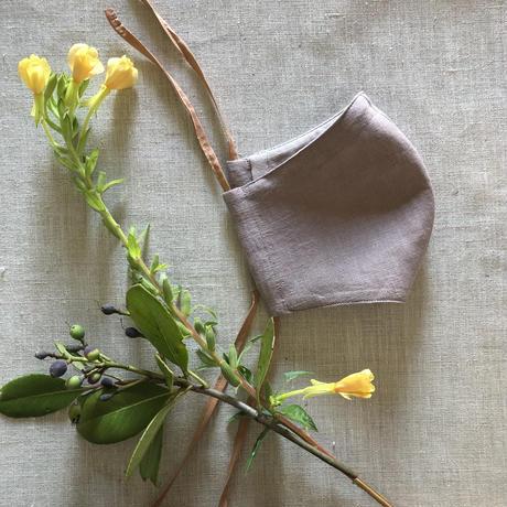 【柘榴洋裁店】植物染めマスク  <オオマツヨイグサ/月見草>
