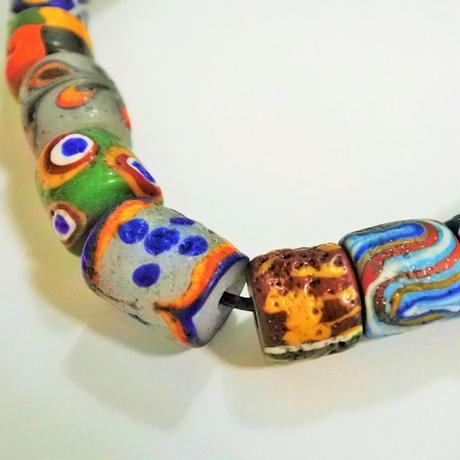 沙滔舞琉璃珠工作室*パイワン族のアンティーク加工ネックレス