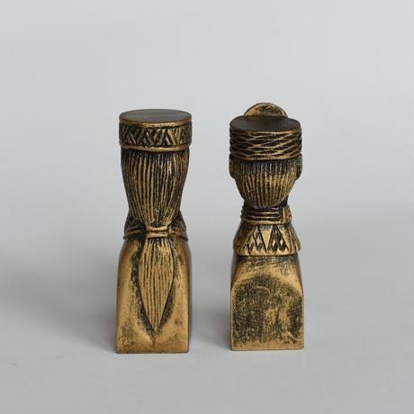 啄木鳥藝雕坊*パイワン族夫婦のミニ置物