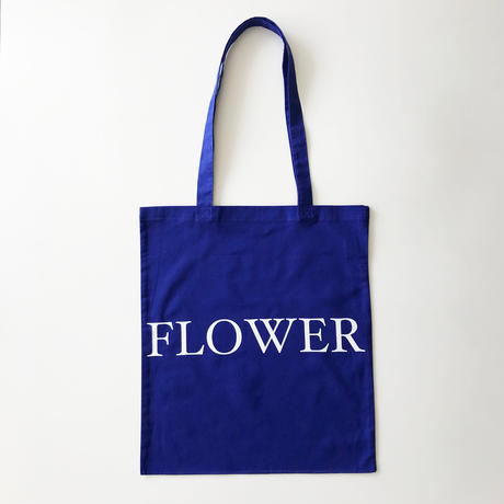 FLOWER TOTE BAG 薄手のブルー