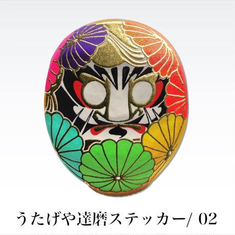 """うたげや達磨ステッカー 大 / UTAGEYA """"DARUMA"""" STICKER・LARGE"""