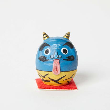 豆だるま / 青鬼 Mini Daruma Blue Demon