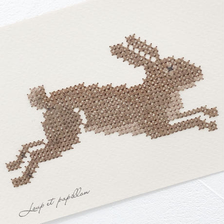 Small  embroidery   小さな刺繍   Rabbit