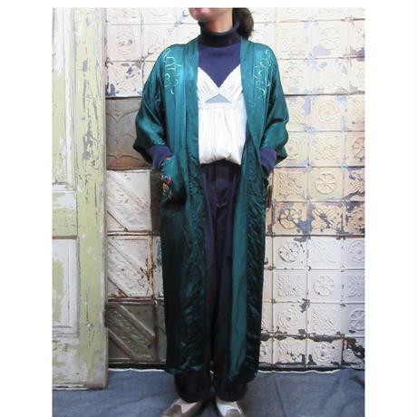 China Gown チャイナガウン 刺繍 古着 グリーン