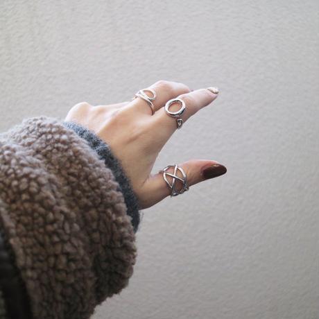 【ゆうパケ対象】silver925サークルデザインリング