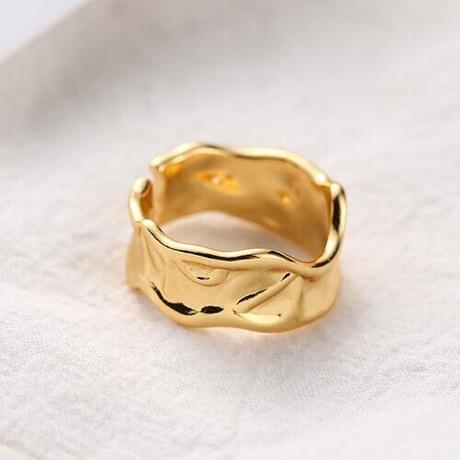 【ゆうパケ対象】wave metal ring