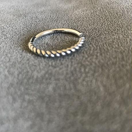 silver925 simple twist ring
