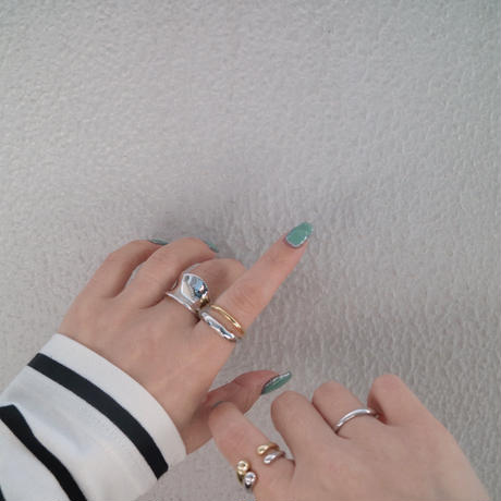 gold入荷【ゆうパケ対象】silver925 wide plate ring