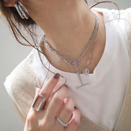 silver入荷【ゆうパケ対象】coin motif necklace