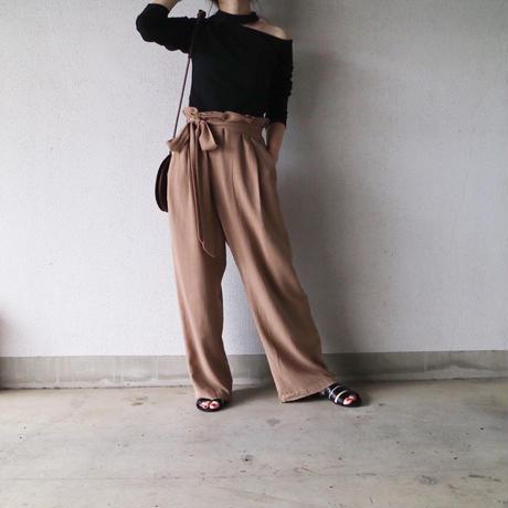 【レターパック 対象】リネンブレンドラップ風パンツ
