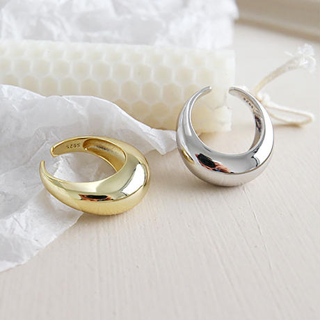gold入荷【ゆうパケ対象】silver925 volume design ring