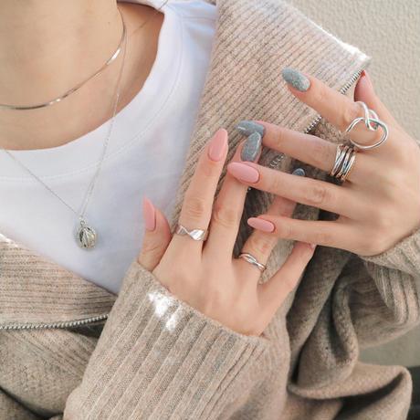 silver925 wide cross ring