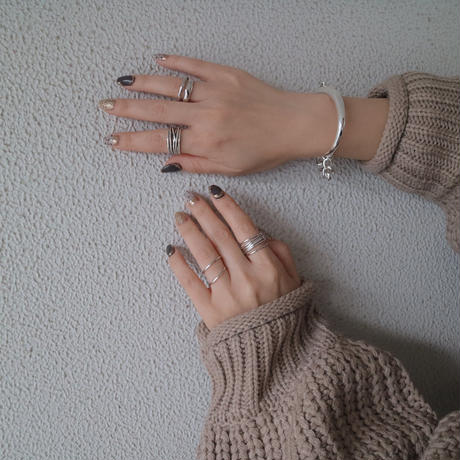 【ゆうパケ対象】silver925twist slim ring