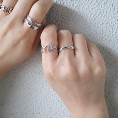 gold入荷【ゆうパケ対象】silver925 double open ring