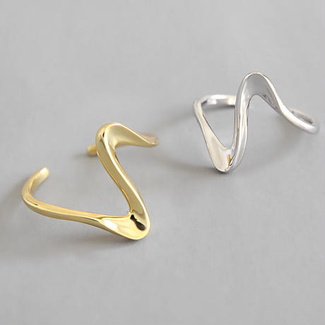 silver入荷【ゆうパケ対象】silver925 wave open ring