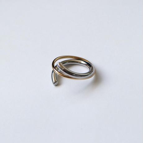 【ゆうパケ対象】two‐tone cross ring