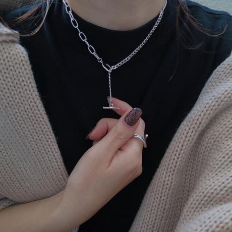 【ゆうパケ対象】half design necklace