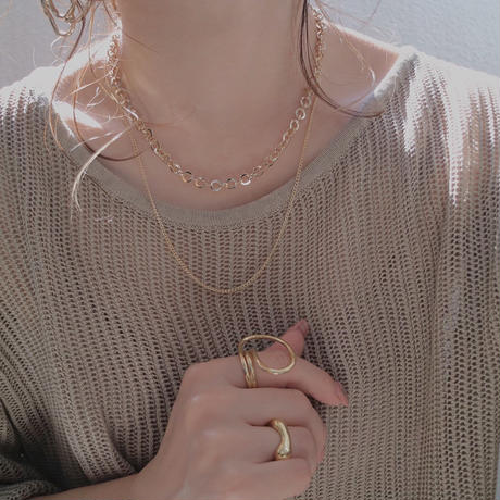 silver入荷【ゆうパケ対象】double chain necklace