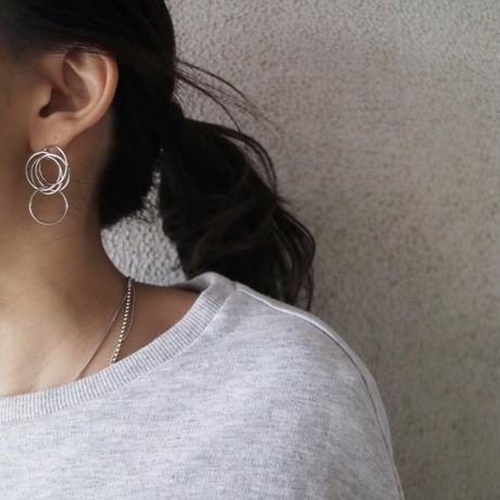 silver入荷【ゆうパケ対象】リングデザインメタルピアス