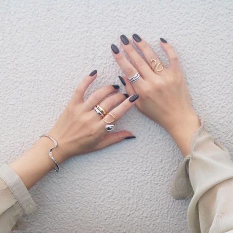 【ゆうパケ対象】silver925 mix collar drop ring