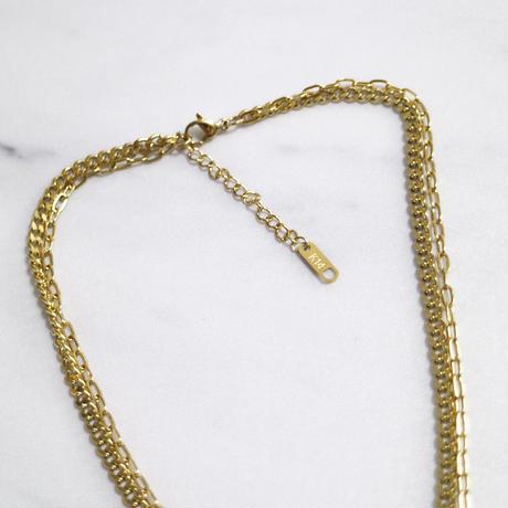 【ゆうパケ対象】2連チェーン変形necklace