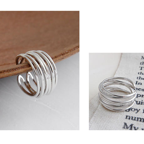 silver925 line lap ring