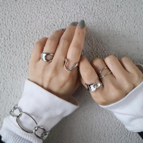 【ゆうパケ対象】silver925 サイドホールオープンリング