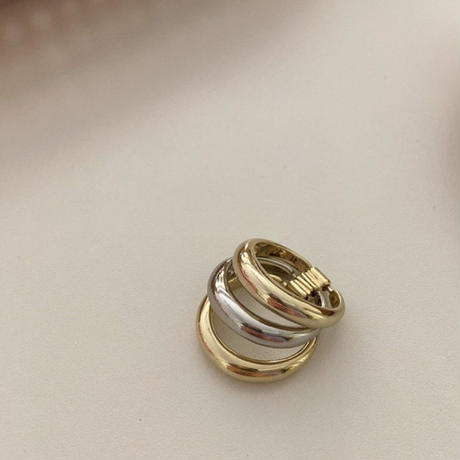 【ゆうパケ対象】mix collar3連 ring