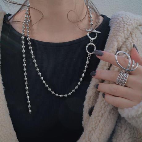 【ゆうパケ対象】asymmetry ball chain necklace