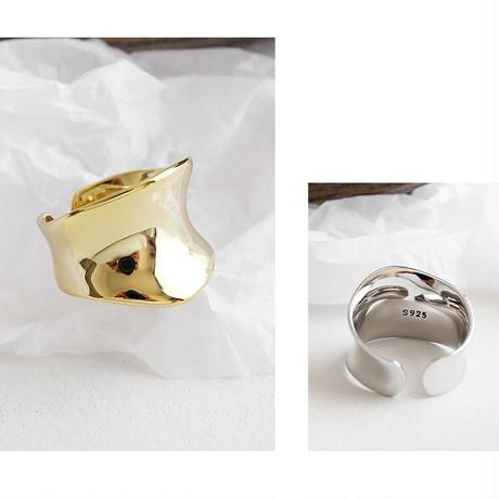silver入荷【ゆうパケ対象】silver925 wide plate ring