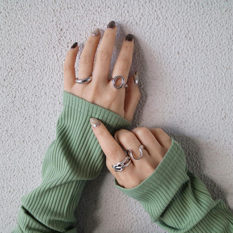 silver入荷【ゆうパケ対象】silver925 modern wave open ring