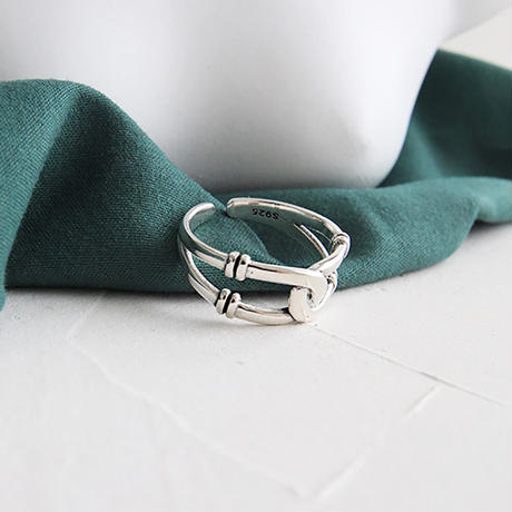 【ゆうパケ対象】silver925 twist design ring
