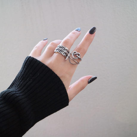 【ゆうパケ対象】silver925chain design ring
