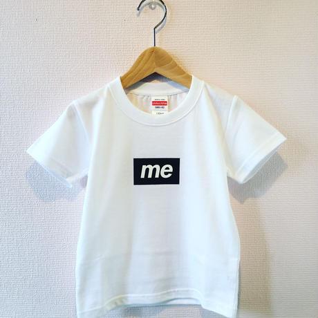 """me"" BOX LOGO KIDS TEE (white x black)"